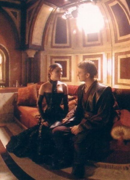 Anakin Skywalker Padme Amidala By The Fire Scene From Star