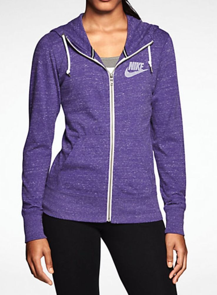 sports shoes 7a4a5 cd043 Nike Women Gym Vintage Full Zip Hoodie Purple Hoodie 545665-509 Brand New  XS M L  Nike  Hoodie