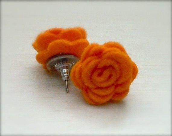 felt earrings!