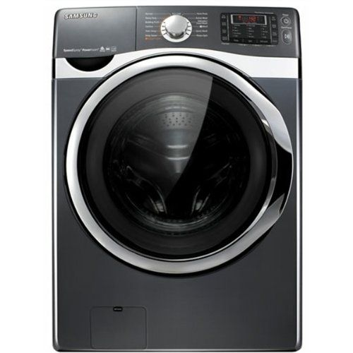Samsung Wf455args 4 5 Cu Ft Front Load Washer With Speedspraytm Powerfoamtm And Smart Control Onyx