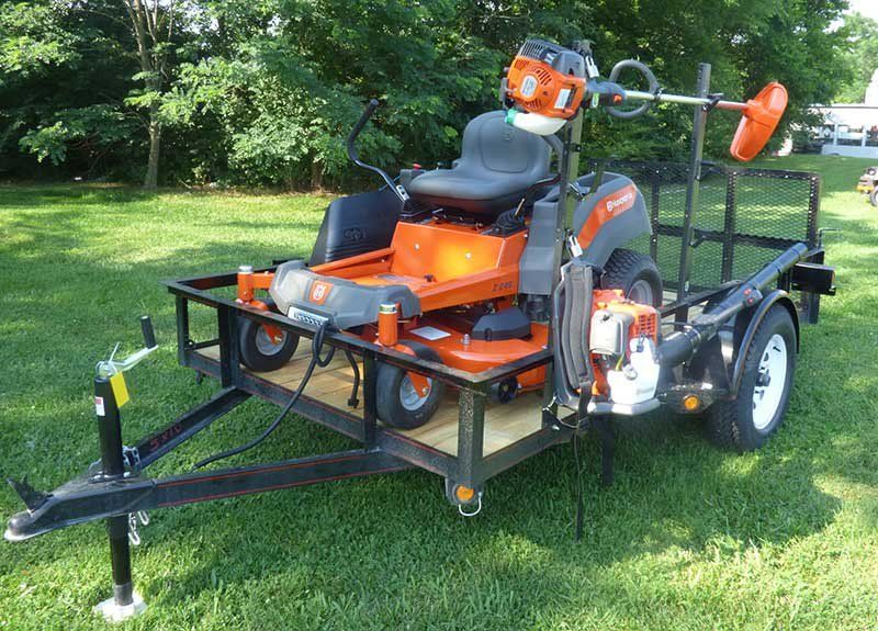 Husqvarna Z246 Mower Utility Trailer Handheld Package Deal | Farm ...
