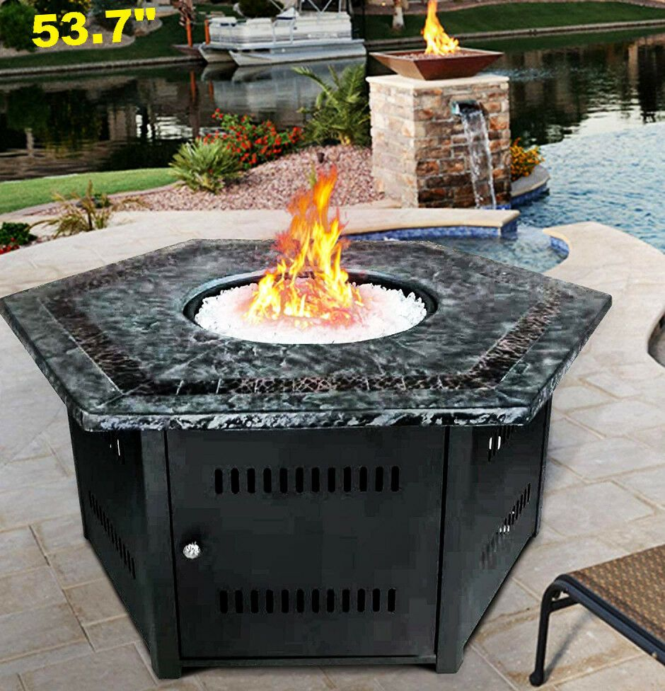 Fire Pit Table Outdoor Gas Propane Garden Yard Patio