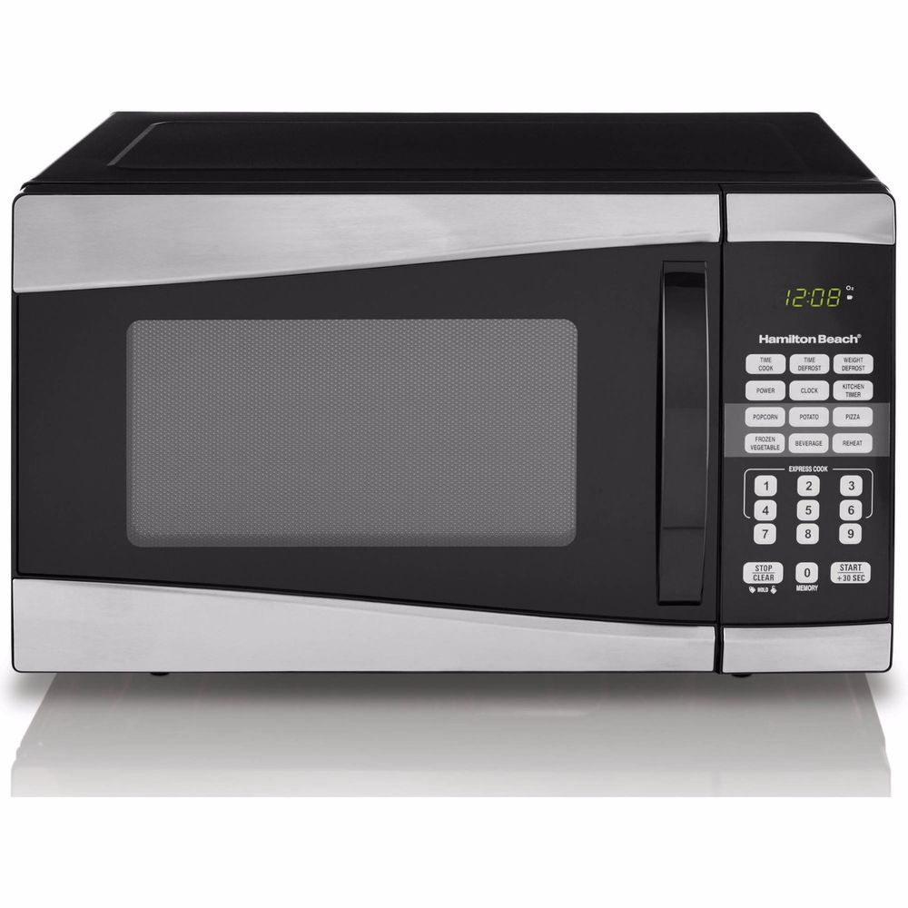Hamilton Beach Countertop Microwave Oven 0 9 Cu Ft 900w Stainless