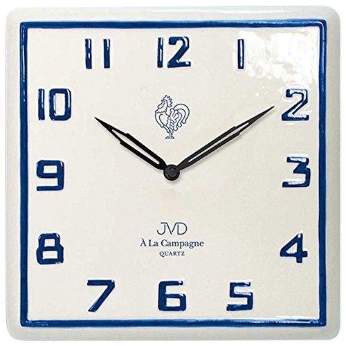 JVD TS26182 Küchenuhr Wanduhr Küche Quarz analog Keramik   - wanduhr für küche