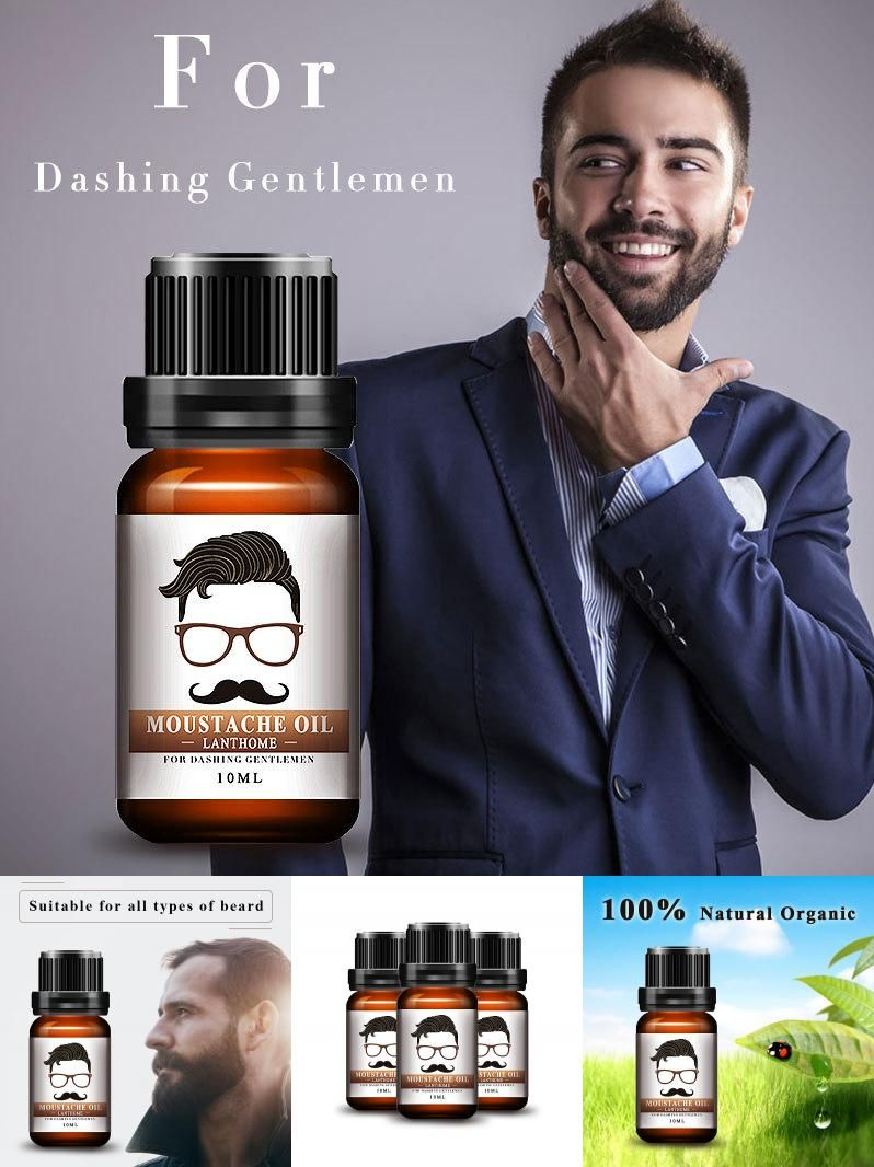 540bcb0dfff [Visit to Buy] New Lanthome 100% Natural Men Beard Oil for Styling Beeswax  Moisturizing Smoothing Gentlemen Beard Care Conditioner 10ml #Advertisement