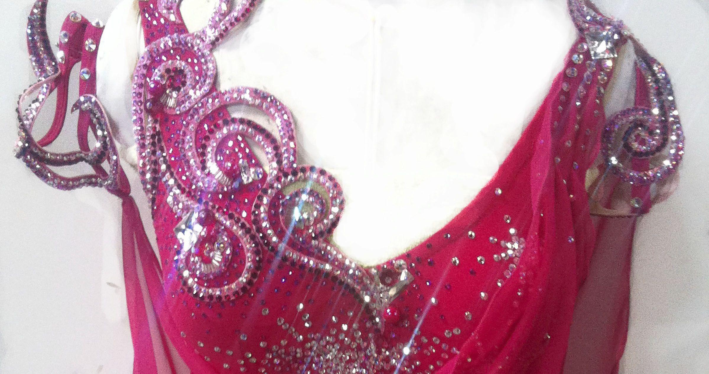 Pink latin ballroom dance dress