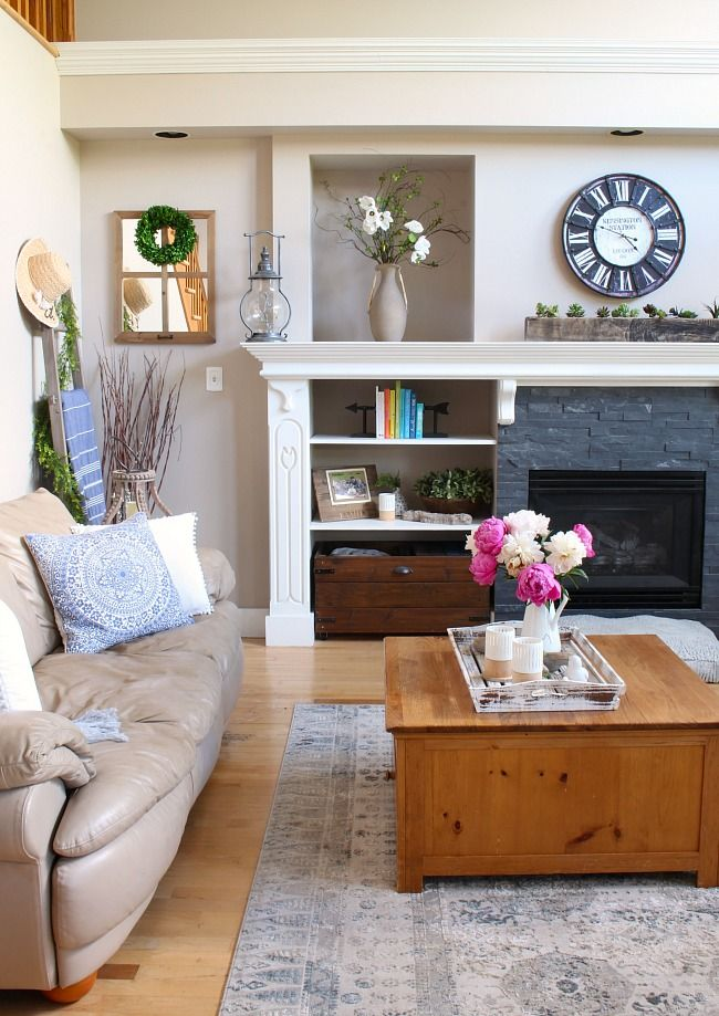 Modern Great Room Design Ideas: Modern Farmhouse Summer Living Room Decorating Ideas