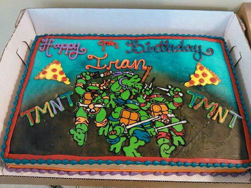 Ninja Turtle sheet cake. | Louisville, KY | Coco's Cakes ...