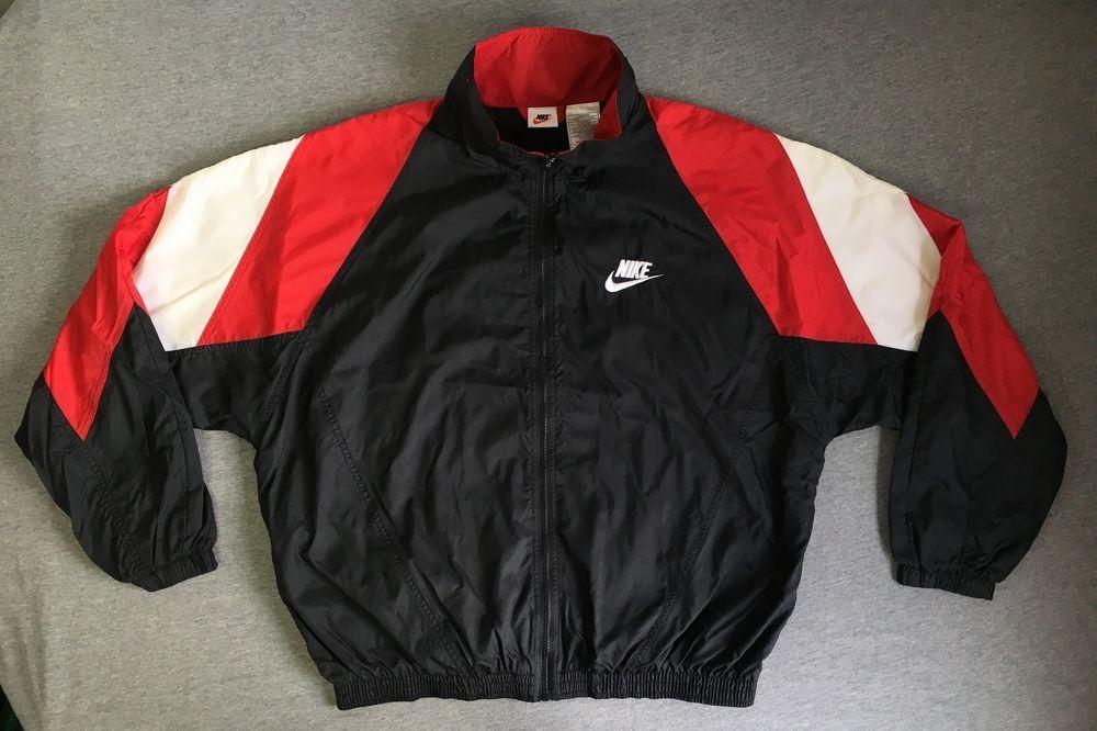 Nike Windbreaker 90s Vtg Jordan Big Swoosh Blazer Bulls Colorblock Jacket Sewn L Vintage Jacket Color Block Jacket Hoodie Fashion