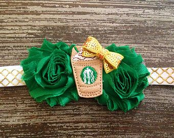 877cefe73ddba Starbucks Headband - Coffee Headband - Starbucks Hair Bow - Frappucino - Newborn  Headband - Toddler Headband - Felt Headband - Birthday Bow