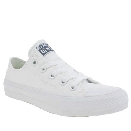 womens converse white chuck taylor all star ii ox trainers