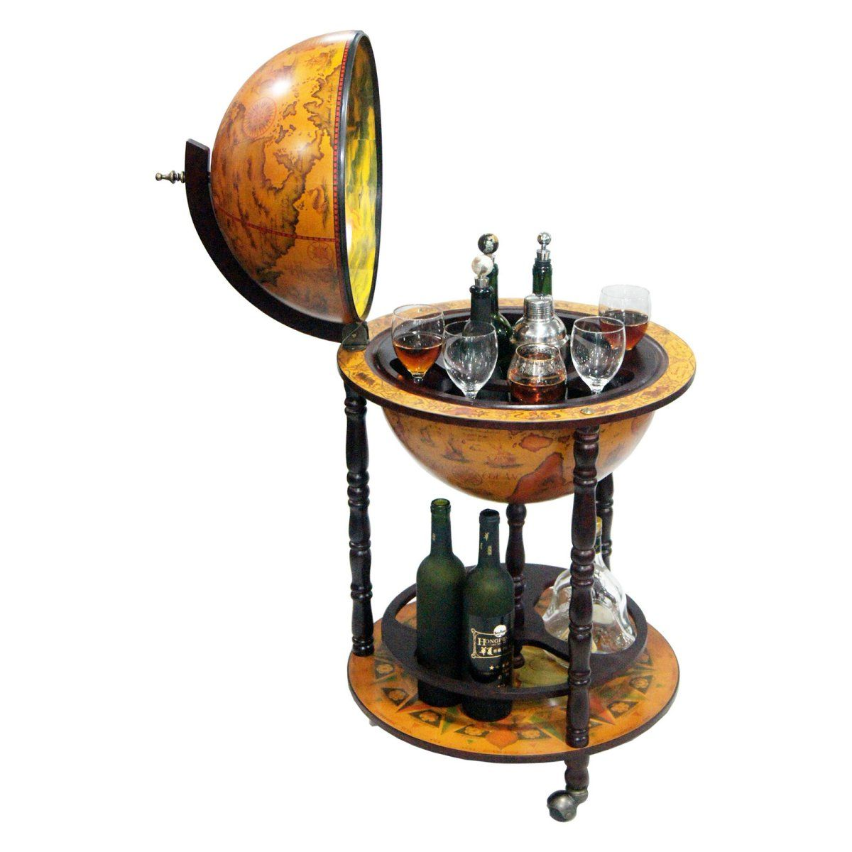 Firenze Italian Style 20 In. Diam. Floor Globe Bar