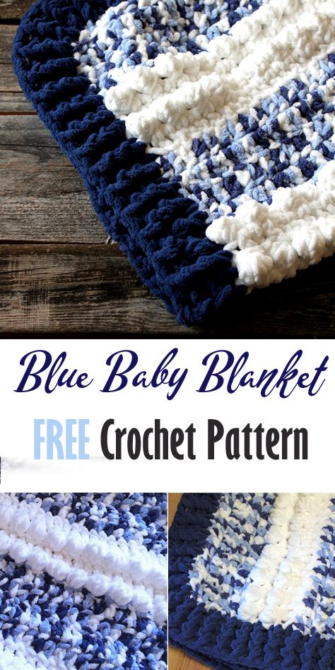 Make A Cozy Baby Blanket Free Pattern In 2020 Blue Baby Blanket Baby Blanket Crochet Pattern Bernat Baby Blanket Yarn