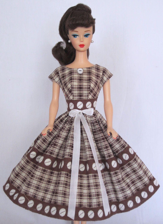 Chocolate Box Vintage Barbie Doll Dress Reproduction Repro Barbie Clothes Doll Dress Barbie Clothes Vintage Barbie Clothes