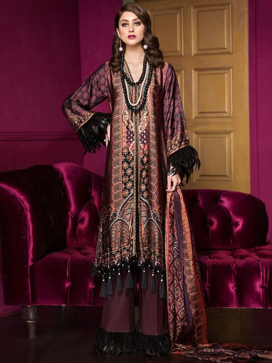 7e084156bf Gul Ahmed Lamis Digital Silk Collection | Pakistani suits ...