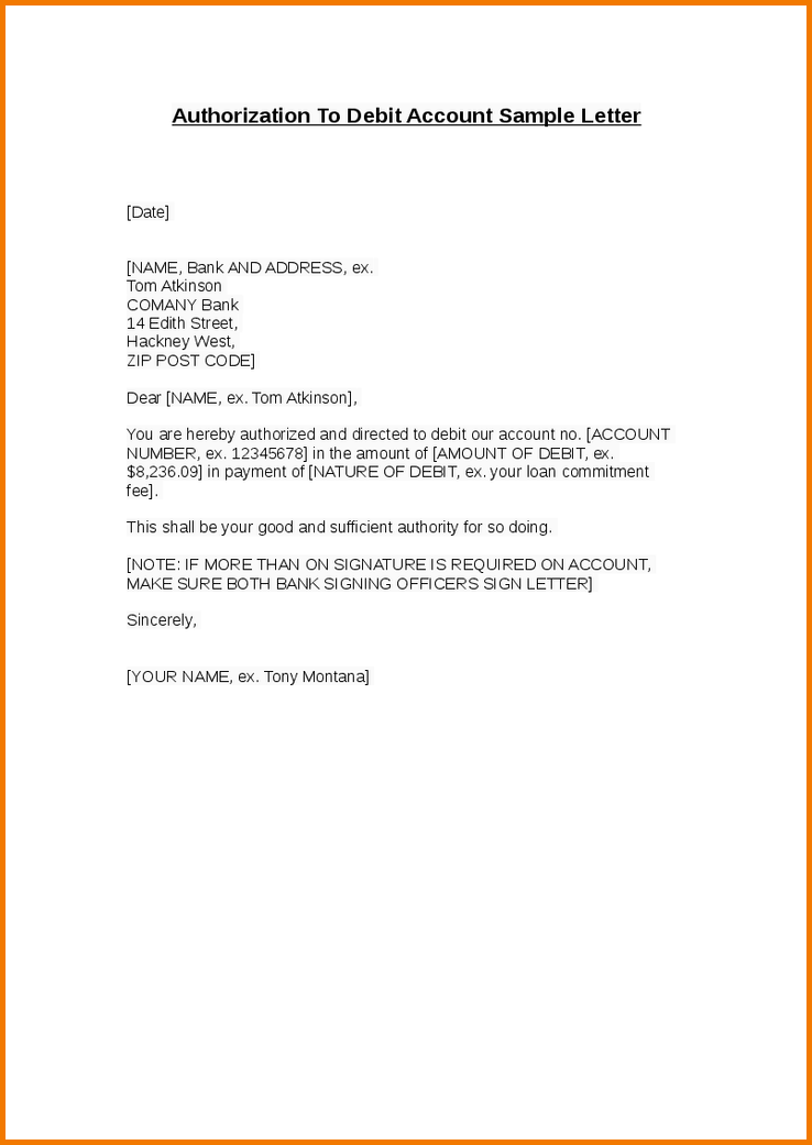 Debit Note Letter Sample New How To Make Authorization Letter Authorization Letter Pdf  News To .