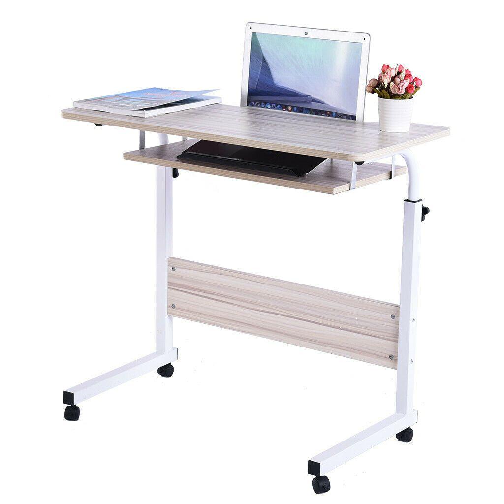 Adjustable Laptop Table Mobile Computer Desk Workstation Office