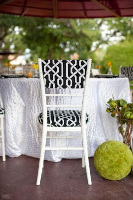{ Ask Cynthia }: Wedding Inspirations | Monochrome | Black and White Patterned Chair