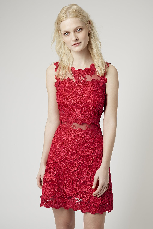 Structured Lace Dress - Topshop | Strutin\' | Pinterest | Lace dress ...
