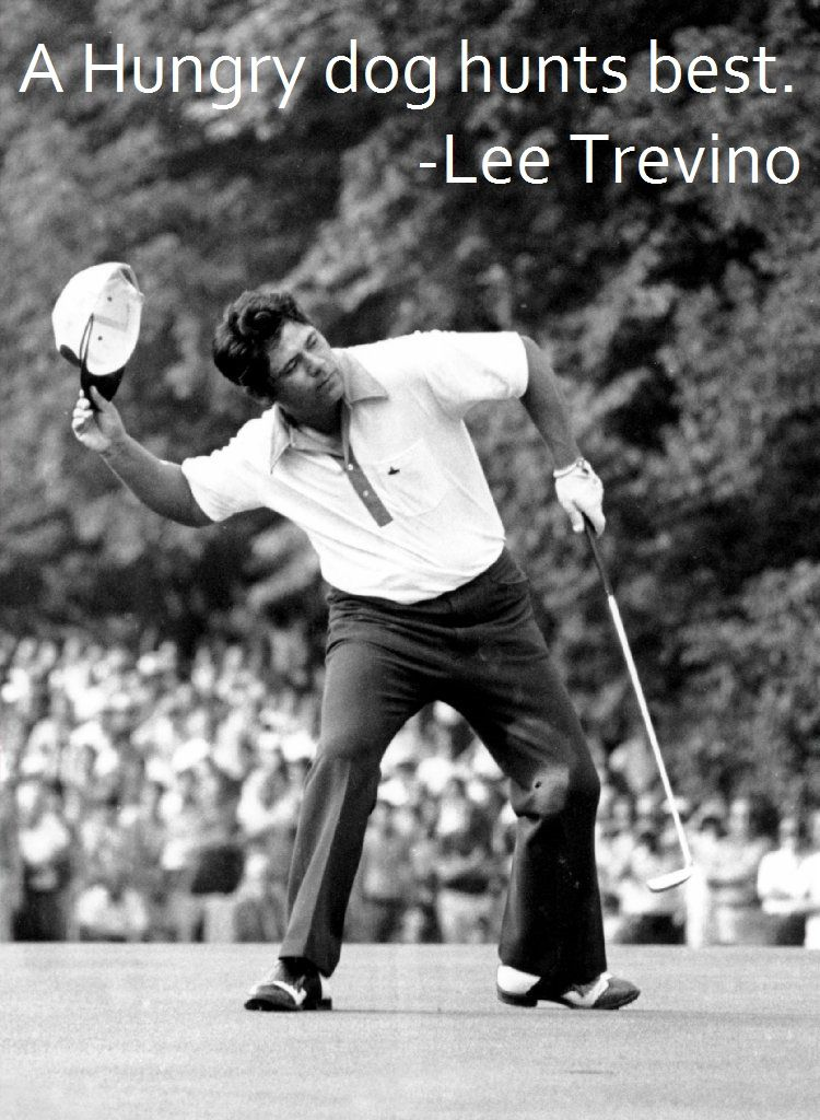 For everyone wondering who's going to take the tournament this Masters weekend. #GolfQuotes #Wisdom #Hungry #Drive #Focus #Competition #MastersWeekend #AugustaNational #LeeTrevino #2ndSwingGolf