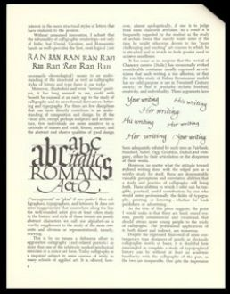 """""""Calligraphy—A Means to Various Ends"""" Charles E. Skaggs Rochester, New York: The Committee for Italic Handwriting Newsletter, spring & summe..."""