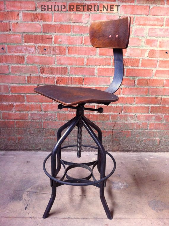 Vintage Industrial Toledo Reproduction Drafting Stool Chair Eight Vintage Industrial Furniture Vintage Bar Stools Vintage Industrial
