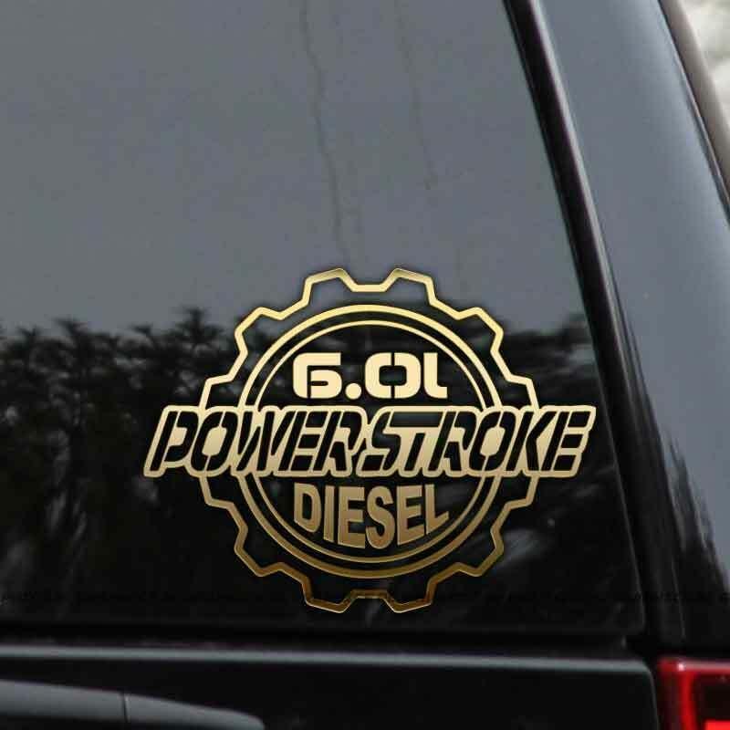 Powerstroke 6 0l Diesel Truck Decal Sticker Ford Turbo F250 F350 Window Laptop Rlgraphics Truck Decals Diesel Trucks Ford Turbo