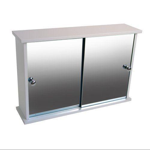 Mirror Cabinet Cupboard Sliding Door Bathroom Storage Sink Furniture Wall Mount