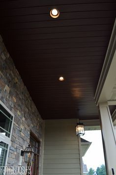 Brown Soffit Front Porch Ceiling Beautiful In 2019