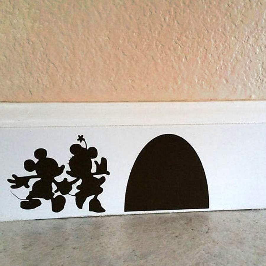 Mickey Minnie Mouse Hole Wall Decal In 2019 Decorating
