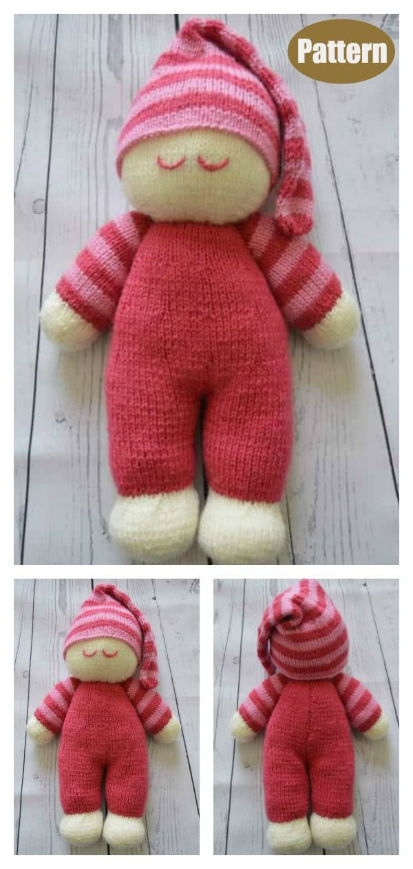Sleepy Baby Doll Free Knitting Pattern and Paid
