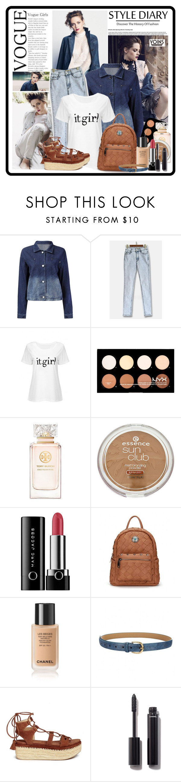 """""""Yoins 5..."""" by cindy88 ❤ liked on Polyvore featuring NYX, Tory Burch, Marc Jacobs, Stuart Weitzman, Chanel, yoins, yoinscollection and loveyoins"""