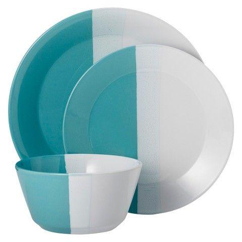Room Essentials™ Tri-Band 12 Piece Dinnerware Set  sc 1 st  Pinterest & Room Essentials™ Tri-Band 12 Piece Dinnerware Set | Gut This Kitchen ...