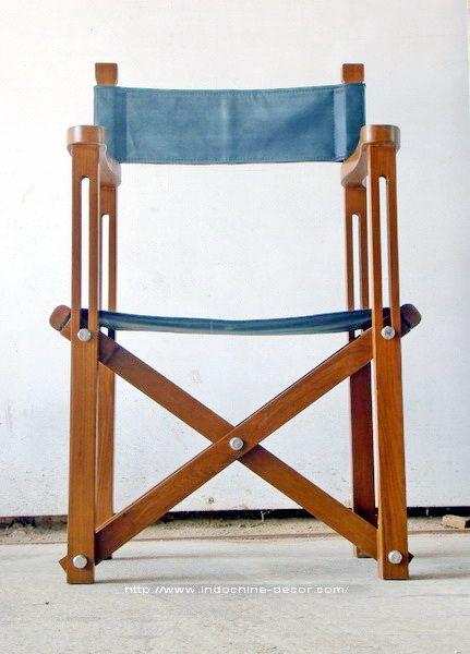 Safari Folding Chair Classic folding chair in handgraded reclaimed ...