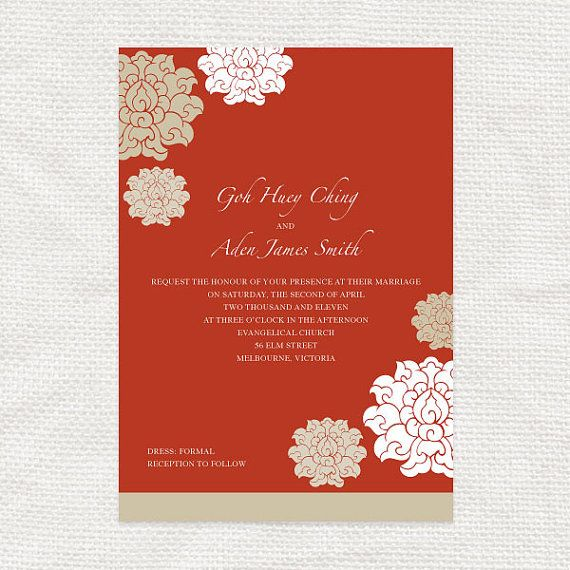 This Item Is Unavailable Etsy Diy Printable Wedding Invitations Chinese Wedding Invitation Wedding Invitation Templates