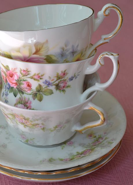 Artful Affirmations: Tea Cup Tuesday-Spring Tea Dreaming-Regency//Theodore Haviland// Royal Albert