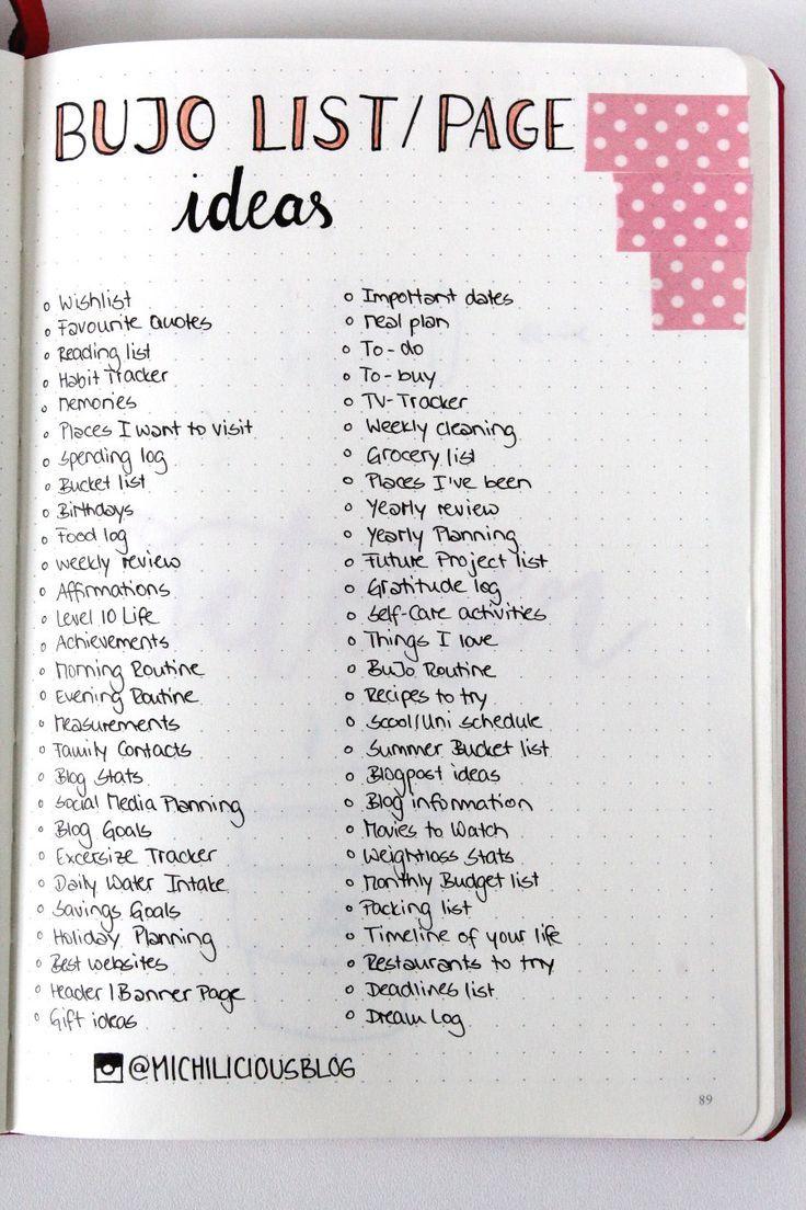 {bullet journal} 50 Ideen für dein Bullet Journal - pinselleicht - einfaches Hand Lettering für jeden!