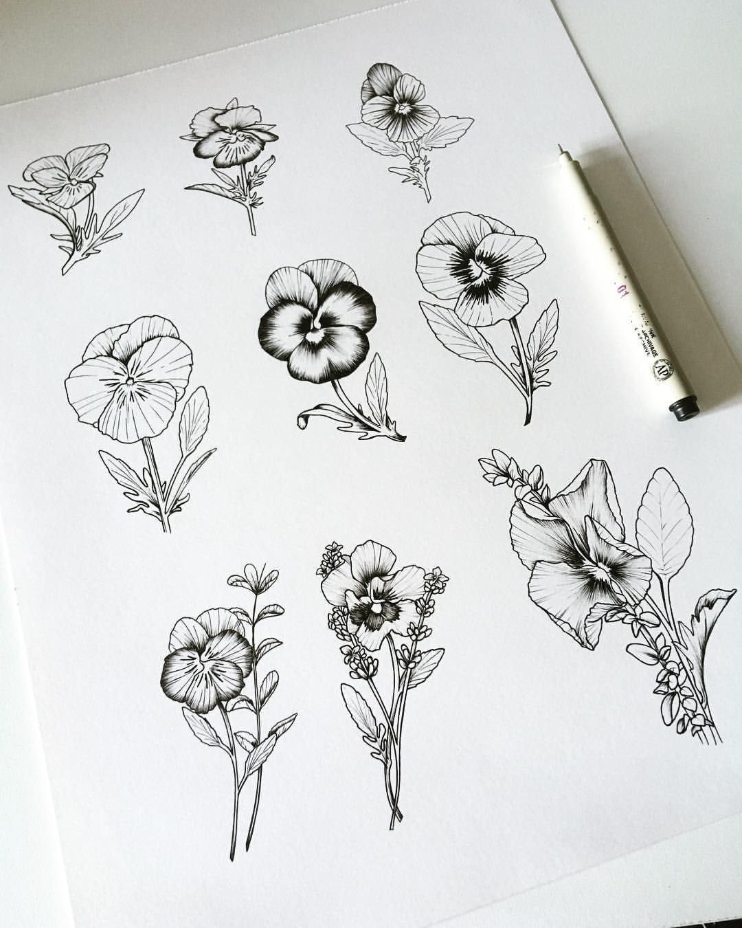 Pansies Pansy Drawing Pansy Tattoo Tattoo Inspiration Flower Tattoo Flash Artwork Pansy Tattoo Violet Flower Tattoos Violet Tattoo