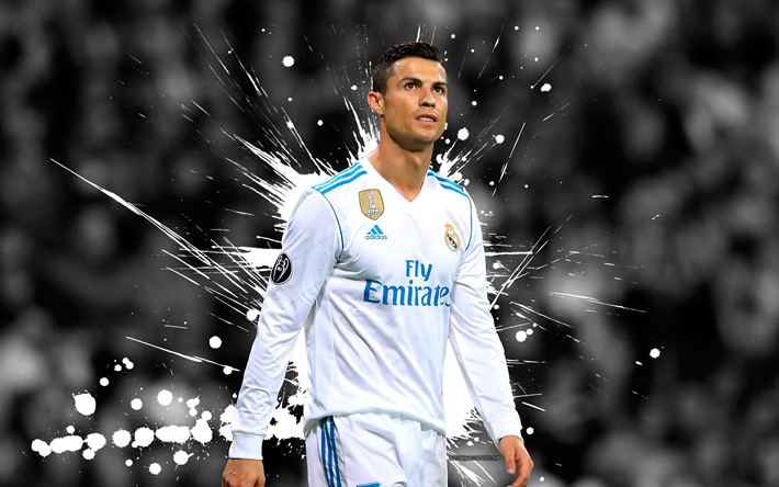 Download Wallpapers 4k Cristiano Ronaldo Grunge Football
