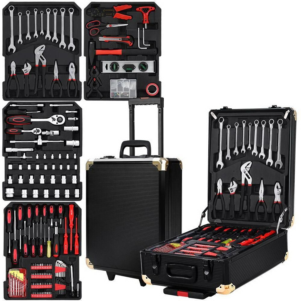816pcs Tool Kit Trolley Case Mechanics Box Toolbox