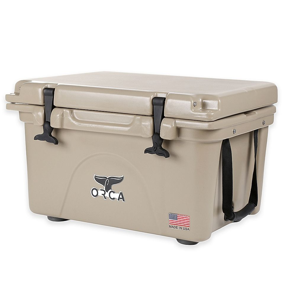Orca Ice Retention Cooler In Tan Bed Bath Beyond Orca Cooler Tailgate Party