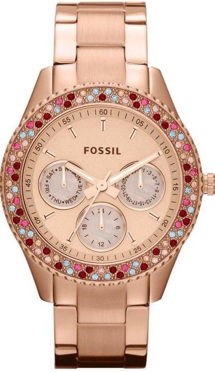 Fossil #ES3198 Stella Stainless Steel Watch, Rose