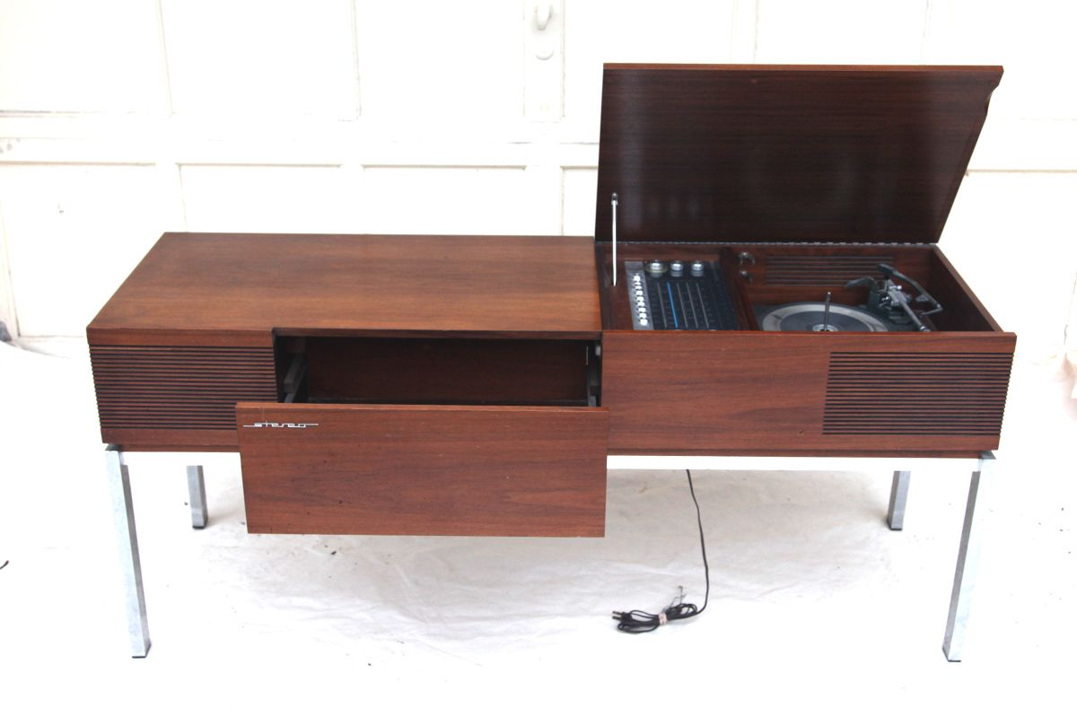 Mid Century Record Player Cabinet | Mid Century Modern Blaupunkt Stereo  Console With Record Player