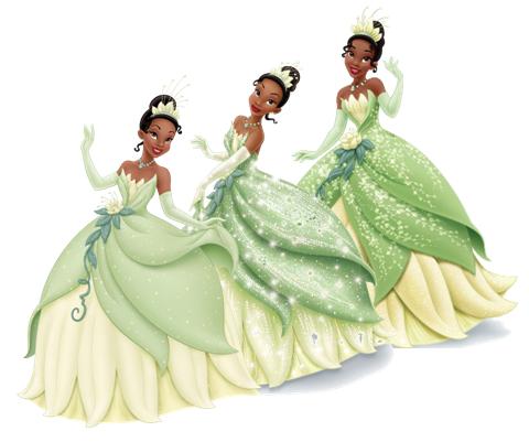 Disney Princess Photo Tiana S Dress Evolution Disney Princess Disney Princess Tiana Disney Princesses And Princes