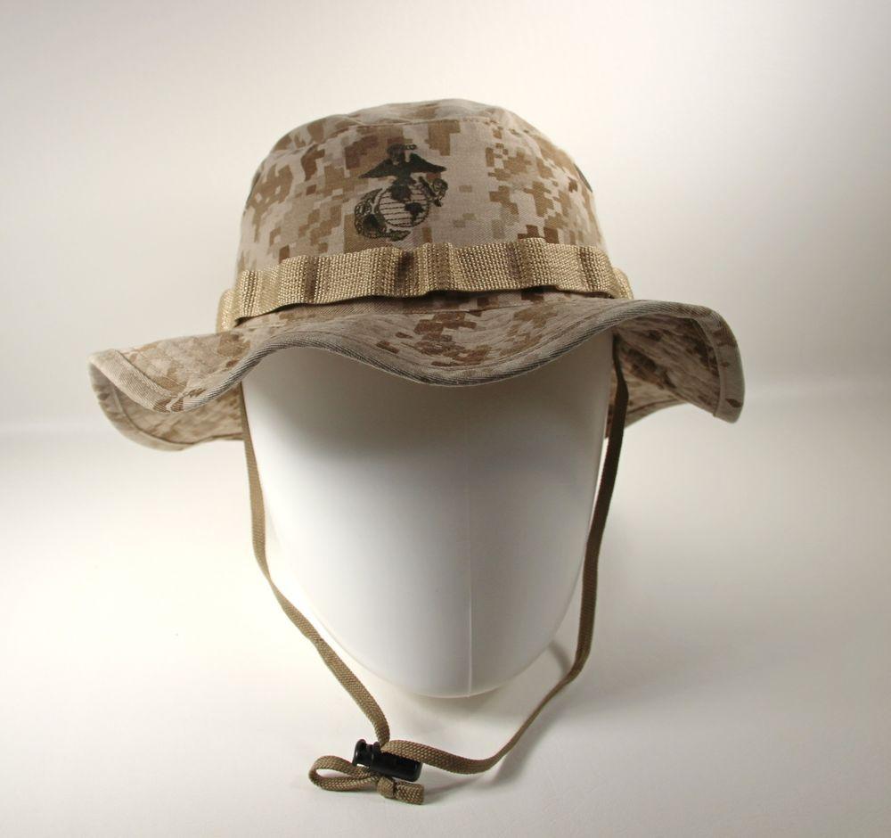 9fda8e554c9 USMC Sekri Sz Medium Digital Desert Genuine Boonie Hat Sniper Marpat Field  Cover