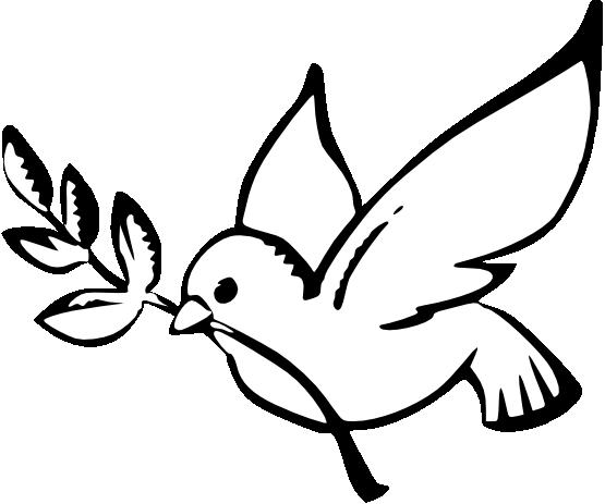 Dove Peace Black White Line Art Christmas Xmas Peace on Earth ...