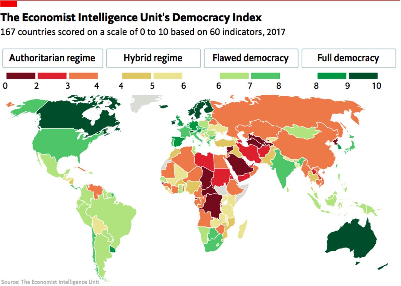 Democracy continues its disturbing retreat Human rights