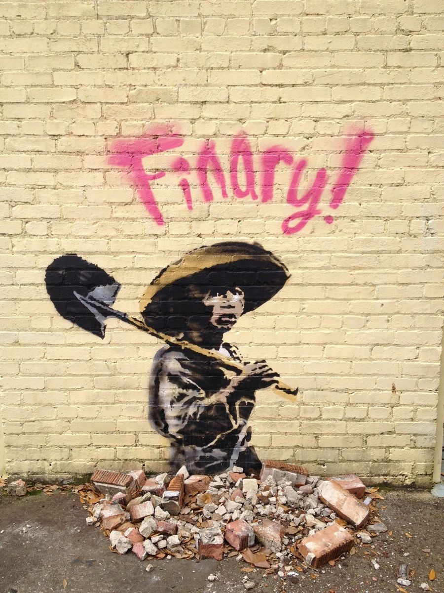 He finary made it! | Pinterest | Banksy, Street art and Hilarious