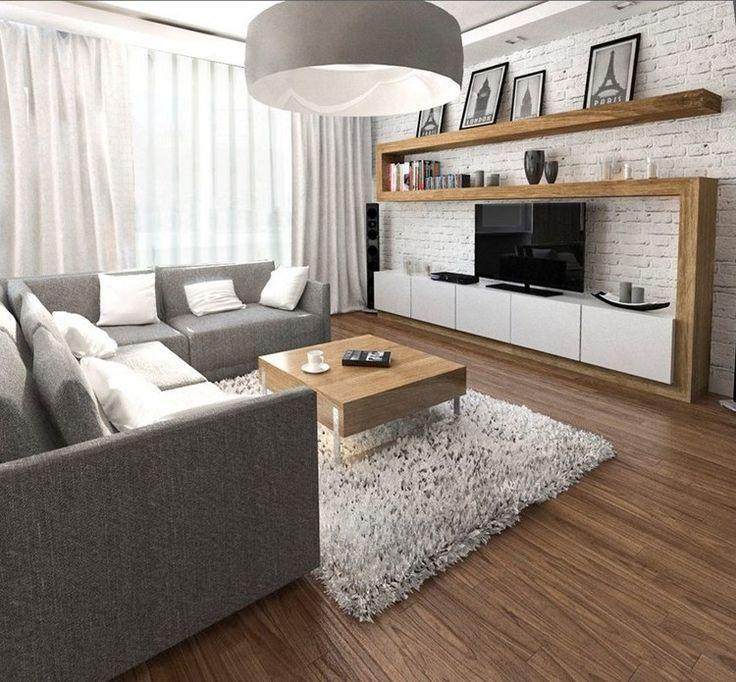 Wohnungseinrichtung ideen wohnzimmer graues ecksofa Wohnungseinrichtung ideen