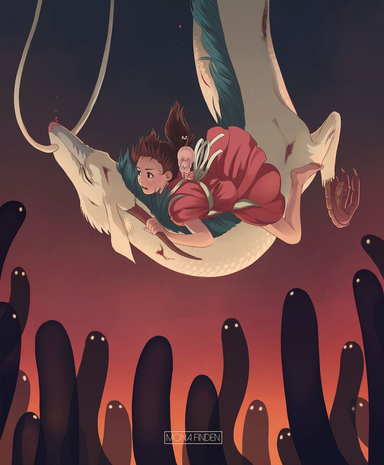 Spirited Away Created By Mona Finden Studio Ghibli Art Anime Art Ghibli Art